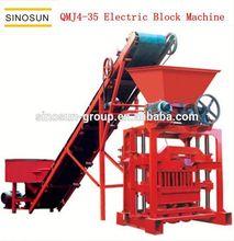 QMJ4-35 simple semi-automatic electric concrete brick production line,small brick making equipment