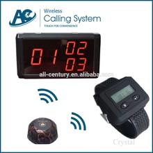 Durable- el uso de largo alcance de led de visualización de huéspedes restaurante pequeño inalámbrico timbre electrónico