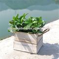 Rústico vazio trapezoidal de madeira vaso de flor