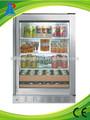 freezer vertical porta de vidro com moldura de alumínio para o supermercado