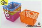 FDA food grade storage square plastic basket