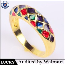alibaba express enamel ladies gold jewelry finger ring