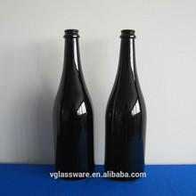 black champagne glass bottle