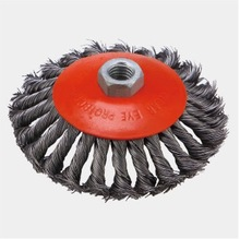 150x35 Twisted knot bevel wire cup brush for de-burring