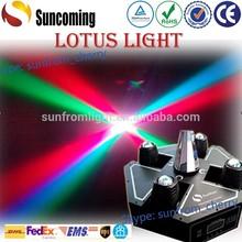 Patent Lotus Light 4*10w Scan+Beam+Spider Led Moving Head Beam