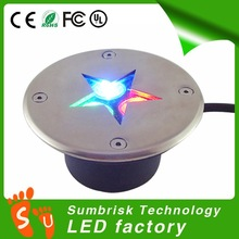 Factory Sale ip67 3W in ground led lights 12v