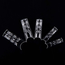 500 pcs Clear Glass Glazes Nail Tips extensions