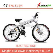"26"" 36v hidden battery folding mountain electric bike rear motor"