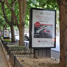 led lightboxes display solar power advertising display