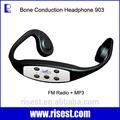 H-904m profesional a prueba de agua de conducción ósea mp3 reproductor de música con el puerto usb
