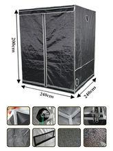 7.8'x7.8'x6.5' (240x240x200cm) Garden Grow Tent Portable Dark Room