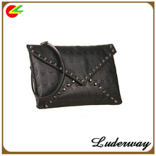 Skull Clutch Bags For Women Punk Style With Shoulder Stripe Shipping