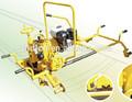 motor a gasolina máquina para triturar o trilho espremendo para fora de borda