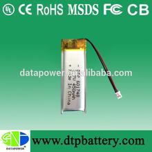 Top seller rechargeable 3.7v 300mah 400mah 450mah li-polymer battery