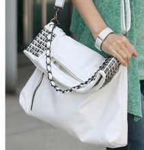 Exported fashion style rivet PU bags alibaba wholesale fashion shoulder bags