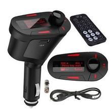Car Kit MP3 Mucsic Player Wireless FM Transmitter Radio Modulator With USB SD MMC+ Remote Control
