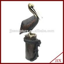 Bronze Pelican Sculpture For Garden Decoration