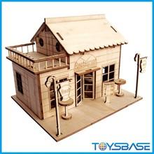 Imagin 3D wooden puzzle house wooden toys wholesale