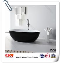Gel coat black bathtubs , european solid surface stone tub