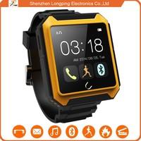 dustproof waterproof shockproof smart watch bluetooth phone for Samsung Glax for iphone 6