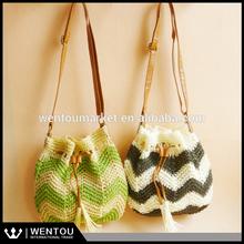 Fashion Lady Crochet Chevron Beach Bag