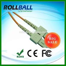 Hot selling SC/SC simplex MM fiber optic patch cord sc