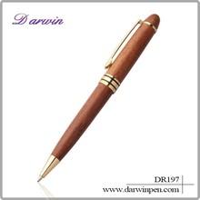 Yiwu futian market shops wood ballpoint pen , pen wood