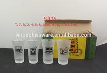 Splendid 2oz imprinting shot glass,can be customerized logo, size, color box