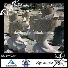 Natural stone granite fish carving fountain