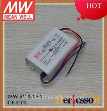 original mean well APV-25-5 CE CUL led driver 5v 4a 25w