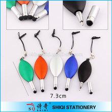 Fashion mini leaf shape stylus pen small stylus touch pen