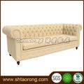 2014 hotel de estilo europeu beigh tecido sofá SO-334
