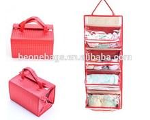 Travel Accessory Foldable Makeup Organizer Lady Handbag