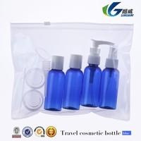9 PCS Smart Make-up Cases/ Holder Travel Bottle Set, BLUE Bottles