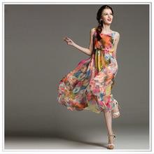 2015 China Floral digital printing 8mm silk chiffon fabric ,custom design factory direct