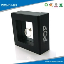 Custom Black Plastic Antique Style Ring Box