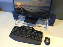 POP clear acrylic computer desk table