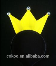 led flashing crown headware gift glow light jewelry tiara hairpin for princess as gift