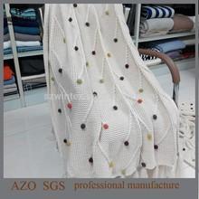 2015 AZO free 100% Acrylic Fancy Knit Throws