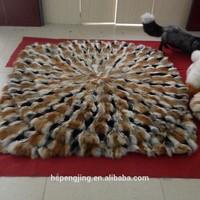 Real luxury floor blanket 100% by real fox fur