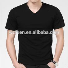 Black plain T Shirts Sports T-Shirt with V neck