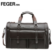 Genuine Leather Fashion Luggage Travel Bag Cow Leather Duffle Bag for Men