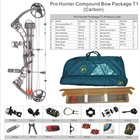 Topoint Archery Pro Hunter Compound Bow package T1-2500-CARBON,CNC Riser,CNC Cam,15-70lbs ,adjustable,bow hunting