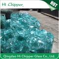 hola chipper picado de colores de bloques de vidrio para la decoración de jardinería