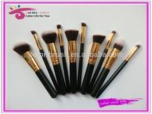 best seller makeup tools 10pcs bare minerals nylon powder/foundation cosmetic brush kit/sets free samples