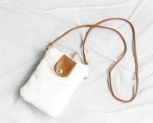 Cute soft Mini Winter Fur single shoulder Cell phone Bag