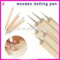 hot sell 2 sides wooden nail dotting set nail dotting pen