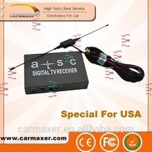 HD modulator mobile USA car tv tuner box for lcd monitor