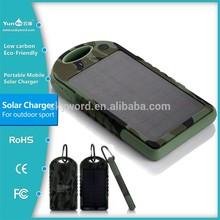 High Performance Solar Panel 12000mah usb portable power bank external battery YD-T016
