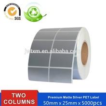 durable custom printed matt silver pet label for furniture